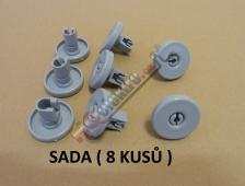 KOLEČKO - KOLEČKA SPODNÍHO KOŠE MYČKY AEG  / ELECTROLUX ( SADA - 8 KUSŮ , průměr 4 cm !!)