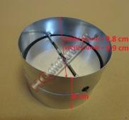 Kovová zpětná klapka k odsavači průměru 100 mm