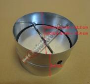 Kovová zpětná klapka k odsavači průměru 125 mm