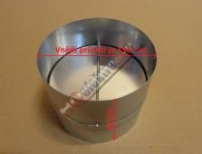 Kovová zpětná klapka k odsavači průměru 150 mm