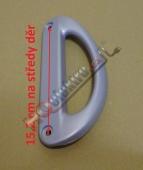 Madlo lednice SNAIGE ( stříbrné )  rozteč 15,2 cm