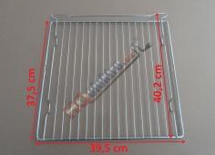 Nerezový rošt do volně stojícího 50 cm sporáku ( trouby ) MORA  ( rozměr roštu 39,5 x 37,5 cm )