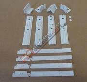 Sada ( pojezdy , lišty )  pro montáž dveří na vestavnou kombinovanou lednici WHIRLPOOL ( 481231019131 )