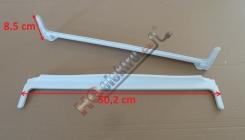 Zadní plastová lišta skla ( skleněné police ) lednice SNAIGE , PERFEKT ( délka lišty 50,2 cm )