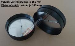 Zpětná klapka 150 mm do odsavače FAGOR CFB ... AXA , CFP ... AXA , CFB ... AVXA